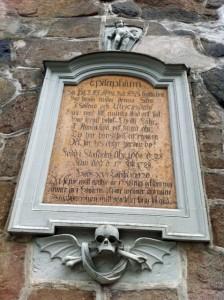 Ahlbergs epitafium. Solna kyrka.